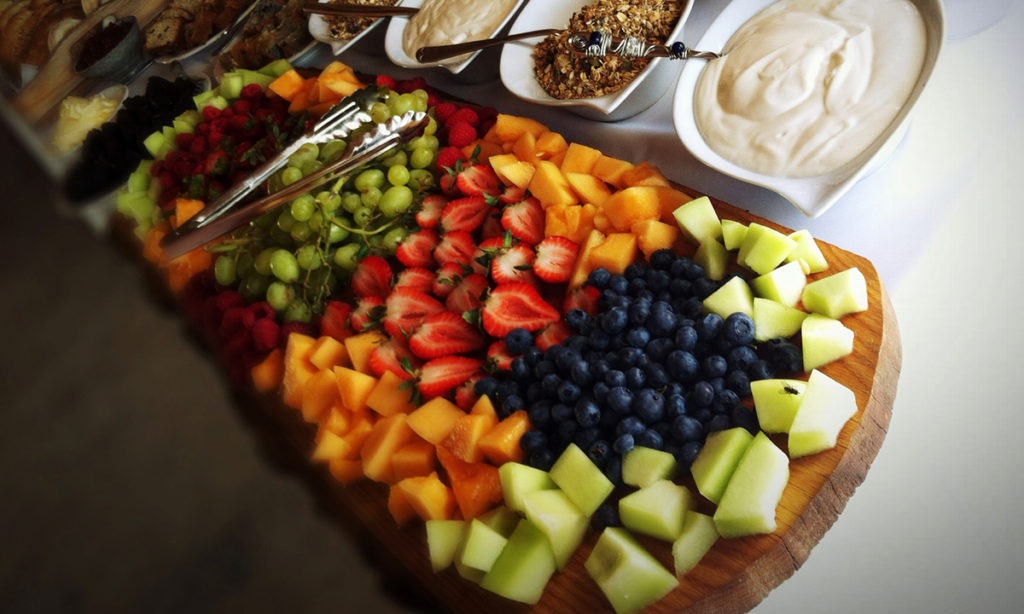 Men with Knives Catering Menu Shot Fruit Tray