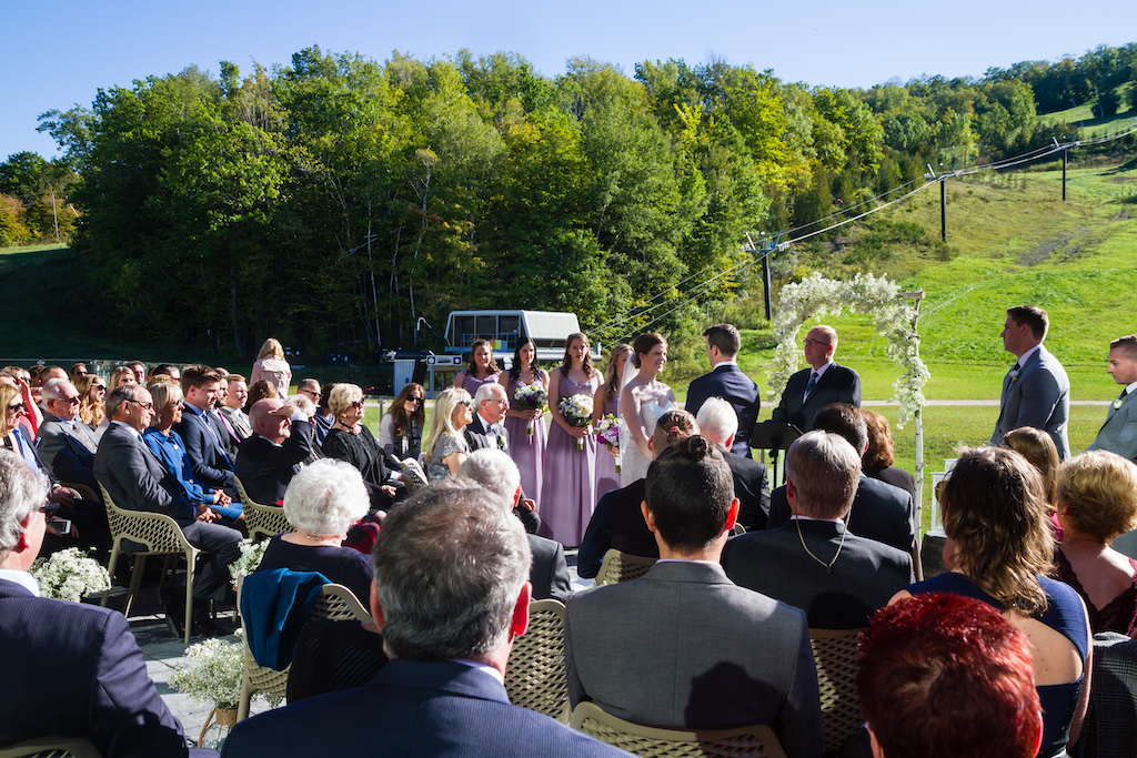 Outdoor Wedding with View of Ski Runs